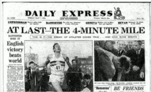 rekord Ako Roger Bannister prekonal rekord v behu na 1 míľu a následne tomu uverili aj ďalší a dali to aj oni roger 300x184